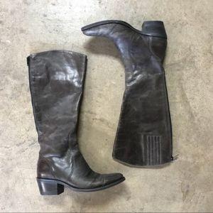 Matisse Antonio Distressed Tall Gray Riding Boot